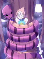 Snake squeeze Pearl (Alternate) by TightSquish