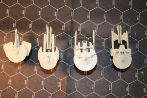 Federation Ship Miniatures by MrE1967