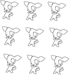 Pichu template by DigiPikachuX