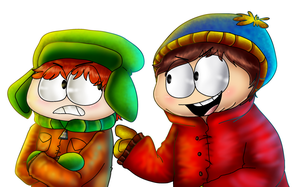 Kyle and Cartman by PlagueDogs123