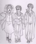 Golden Trio by merrydisposition