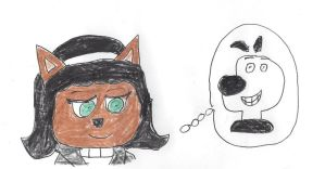 Kitty Katswell thinks about Dudley Puppy by dth1971