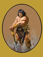 Homage to Frazetta n Buscema by grobles63