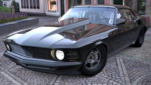 Ford Mustang Trans-Cammer 70' by zandor95