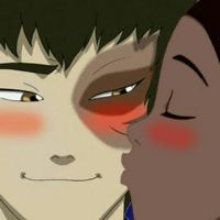 :Zutara: A Kiss by SheWhoWalksWithThee