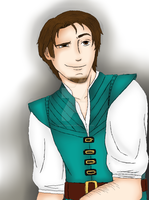 Flynn Rider ( digitally colored ) by Hinatagirlie