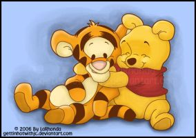 Baby Pooh and Tigger by MissKingdomVII