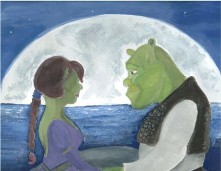 Shrek and Fiona by Silleress