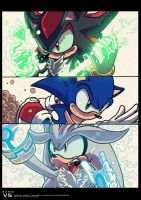 Shadow, Sonic and Silver by TrebleEXE