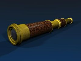 Steam Punk Telescope by LDS-Jedi