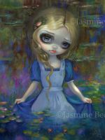 Alice in Monet's Water Lilies by jasminetoad