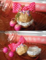 Cream Puff Container Charm by kawaiifriendscafe