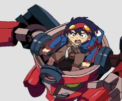 Simon in Lagann by DoctorTimmeh