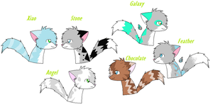 All my characters by Animallover08