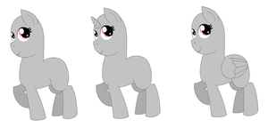 MLP:FiM Mare Bases *MS PAINT FRIENDLY* FREE TO USE by Strawberry-Spritz