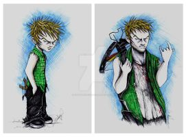 Daryl Dixon Evolution by cpn-blowfish