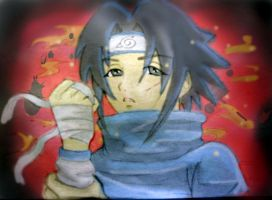 sasuke - colour practice by Mien83