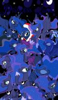 Princess Luna Collage - My 100th Deviation by Akumu2200