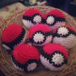 pokeballs ~ for sale on Etsy by theyarnbunny