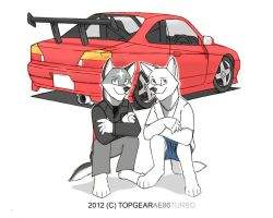 Initial D Wing and Myself by wingwolf88