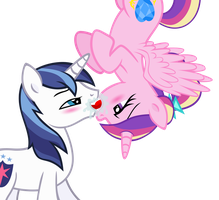 A Kiss From Above (Shining X Cadance) by MrMaclicious