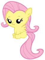 Baby Fluttershy Sitting by jrk08004