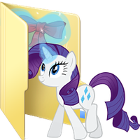 Rarity custom folder icon by Ferasor
