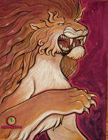 lion paint by missmonster