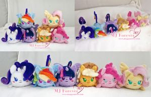 My Little Pony: Mane 6 tsums! by moggymawee