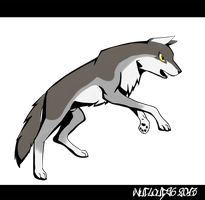 Leaping Wolf by InuCloud96