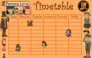 Professor Layton Timetable by kenabe