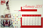 Mars Calendar January 2015 by Aurisg06