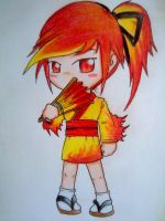 Gijinka Moltres by beanystergates