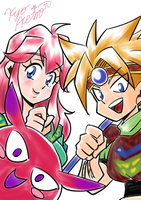 [Terranigma] ark and elle and yomi by Kyo-Akemori
