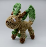 Shiny Leafeon ami by gwilly-crochet
