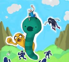 adventure worm by BurnItUp