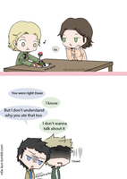 24.- Making up afterwards (Sabriel and Destiel) by Nile-kun