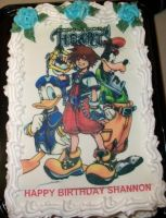 My Kingdom hearts cake. by fx-7