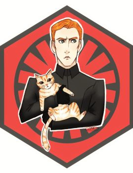 Commander Hux and Millicent by ProfessorMythology
