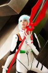 Ayanami with lance II by MademoiselleLin