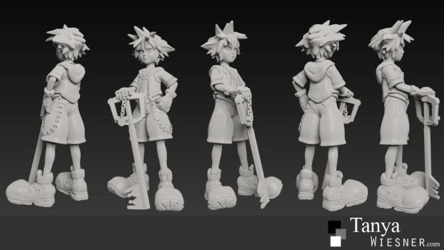 3d Printable Sora Zbrush Renders by daylightdreams