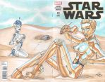 Star Wars #1 - Sexy Droids Sketchcover by amanojyaku