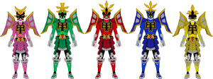 Power Rangers Samurai, All Shogun Mode by Taiko554