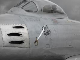 Sabre Jet Nose Art by davepphotographer