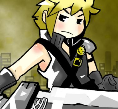 Cloud Strife by iComicArtist