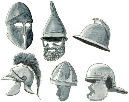 ancient helmets by Kluwe