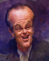 Jack Nicholson by wooden-horse