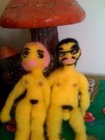 Needle Felt Luis and Azra by lovechairmanmeow
