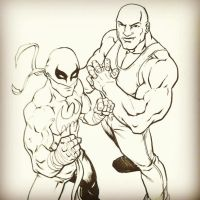 IronFist and Luke Cage by BrianAtkins