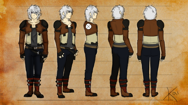 Kai Character Model Sheet by KeruriDerago